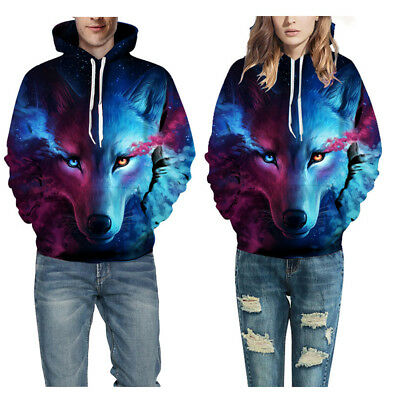 3D Wolf Printed Hoodie Men/Women Cool Animal Sweater Fashionable  Pullover