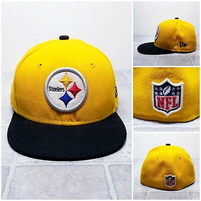 fc956914606 Pittsburgh Steelers NFL Kids New Era 59FIFTY 2-Tone Fitted Hat Cap Youth 6 1