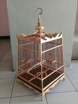 Canary cage finch cage hand made ornate wooden cage FREE WORLD POST