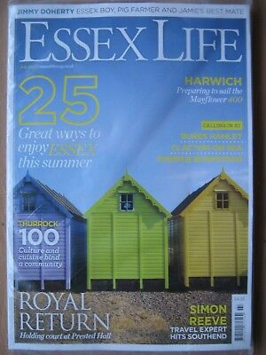 Essex Life magazine July 2018 Simon Reeve Prested Hall Harwich Clacton Bures