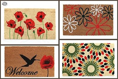 Natural Coir Door Mat | Rubber Backed | Entrance | Indoor & Outdoor | Heavy Duty