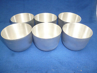 VINTAGE 6 STRONG ALUMINIUM MOULDS for PANNA COTTA etc - Professional Quality vgc