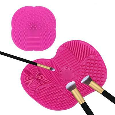 Makeup Brush Cleaner Mat Make Up Brushes Silicone Pink Pad Portable Home Travel