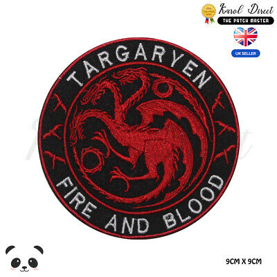 Targaryen Game of Thrones Embroidered Iron On Sew On PatchBadge