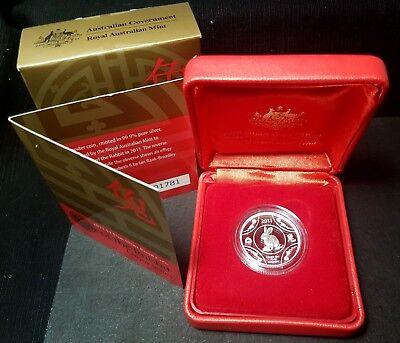 2011 $1 Fine Silver Proof Coin - Year of the RABBIT Lunar Series - A BEAUTY!!