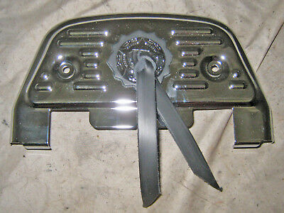 Harley-Davidson Chrome & Concho Passenger Floorboard Cover Touring Softail Dyna