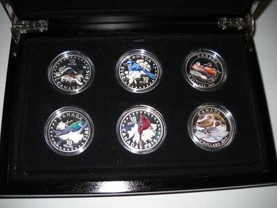 Canada 2014-2015 Set (6 coins) Colourful Songbirds and Ducks of Canada $10silver