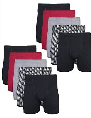Gildan Mens Cool Spire Cotton Boxer Briefs Underwear Size XL 40-42 10 Pack #A