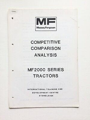 Massey Ferguson Sales Training Centre M2000 Series Tractors Competitor Analysis