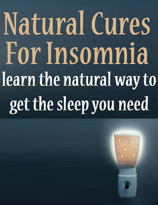 Natural Cures For Insomnia PDF eBook with Master Resell Rights MRR