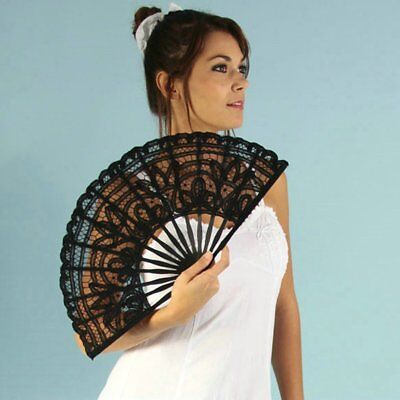 Creative Gift Lace Hand Fan Bamboo Chinese Wedding Favors Silk Vintage FoldingJ-
