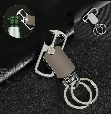 Heavy Duty Belt Loop Clip Dual Key Chain Loops Twisting with Beer Bottle Opener