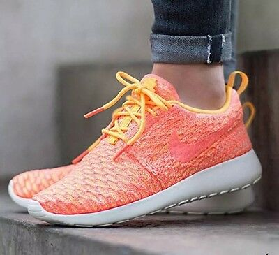 super popular eade3 dafea WMNS NIKE ROSHE ONE FLYKNIT Running Trainers Shoes Gym Fashion- UK 6.5 (EU  40.5
