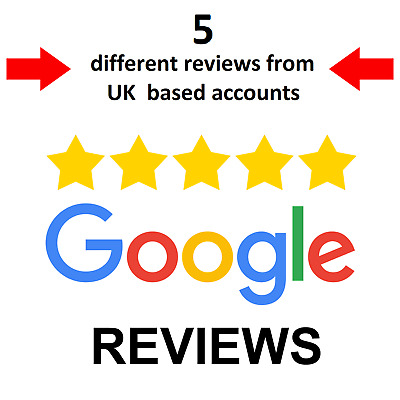 FIVE Google Reviews for UK Small Business - 7-14 Days - From UK Accounts