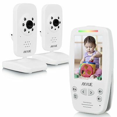 """Axvue E662 Video Baby Monitor, 2.8"""" LCD Screen and 2 Camera, NEW UNIT"""