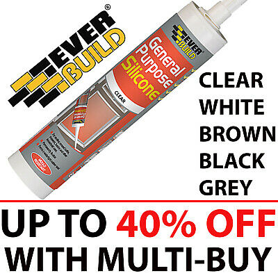 General Purpose Silicone Sealant C3 310 ml Clear White Brown Black Grey