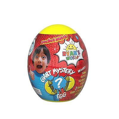 Ryan's World Yellow Giant Mystery Egg Toy * Brand New * Youtube Slime Surprise