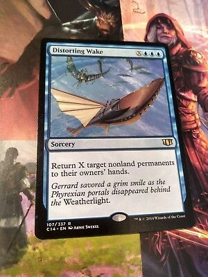 🎅 DISTORTING WAKE 107/337 C14 Commander 2014 RARE Mtg Magic the Gathering