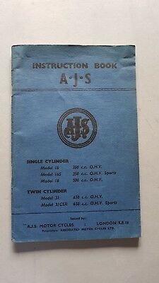 AJS Model 16-18-31-CSR 350-500-650 manuale uso moto motorcycle owner's manual