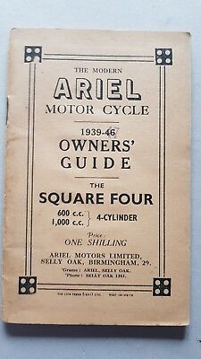 Ariel Square Four 600-1000 1939-47 manuale uso moto originale