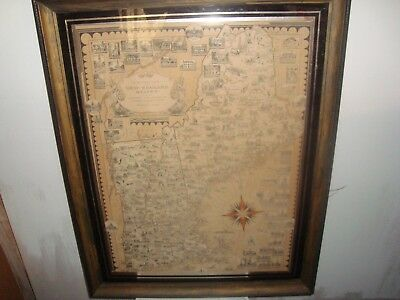Original Map New England States  Ernest Dudley Chase 1939