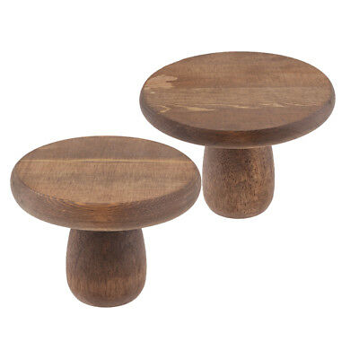 2pcs Wedding Cake Stand Round Wood Party Display Dessert Display Plate Home