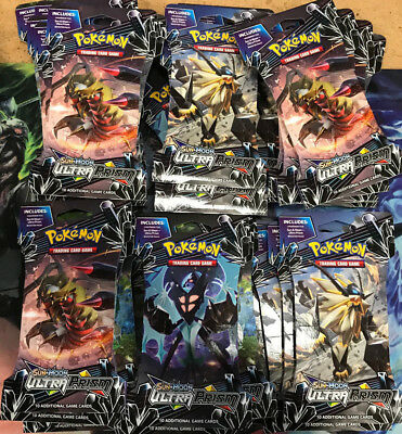 36x Pokemon TCG Cards SM5 Sun & Moon Ultra Prism Booster 36 pack Packs Lot = Box