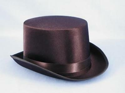 Satin Costume Top Hat Adult: Black One Size