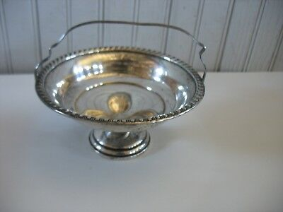 Vintage Sterling Silver Handled Weighted Footed Nut/Candy Basket Bowl 134g