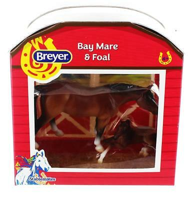 Breyer 1:32 Stablemates Model Horse: Bay Mare & Foal