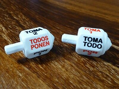 Pirinola Toma Todo Spinning Top Game Traditional Mexican Game. (2 Pack) Large