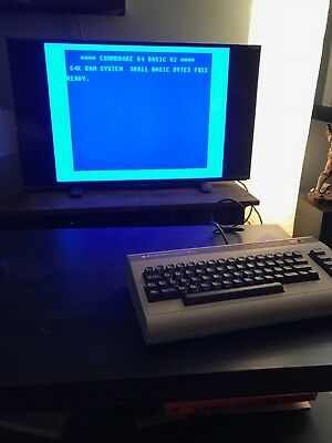 Commodore 64 Computer WORKING, used, no damage, w/ power and video cables