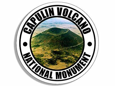 4x4 inch Round Capulin Volcano National Monument Sticker (Travel rv Lava us)