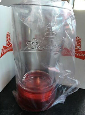 New Budweiser Goal Synced Red Light Glass Limited Edition