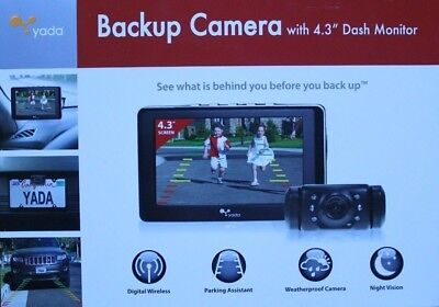 "Yada Digital Wireless Backup Camera System with 4.3"" Color LCD Dash Monitor"