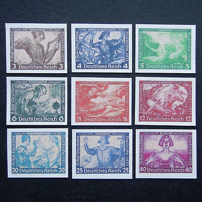 Germany Nazi 1933 Stamps MINT Imperf Reprint German Empire Wagner Nothilfe WWII