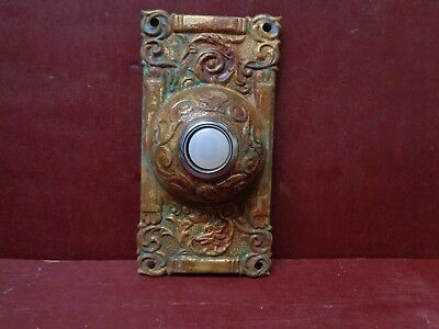 Fox Head Columbian Reproduction Brass Doorbell Button #2