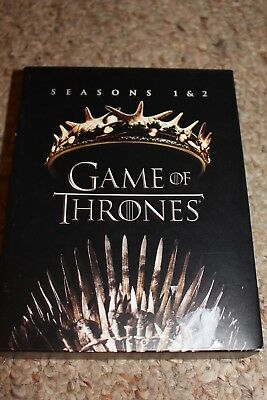 Game Of Thrones: Seasons 1 and 2 (Blu-ray Disc, 2017) 1st 2nd First Second Set
