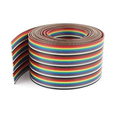 6X(10ft 40 Way 40-Pin Rainbow Color IDC Flat Ribbon Cable 1.27mm Pitch P9U9)