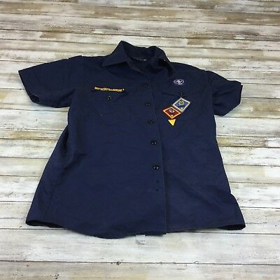 Boy Scouts Of America - Size Med/lge - Navy Button Uniform Shirt
