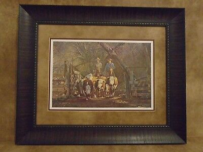 "Tim Cox Framed ""Last Of The Herd"" Limited Edition 1103/2250"