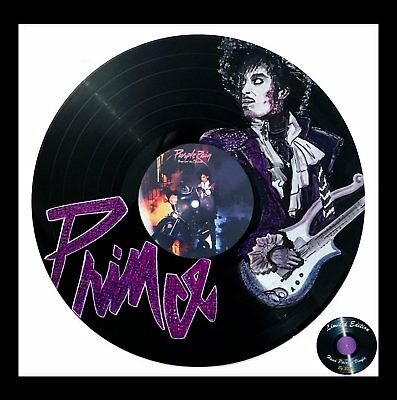 Prince * Xmas Gift * Hand Painted Vinyl Record Art * Limited Edition