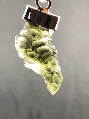 Moldavite Sterling Silver Pendant ~ High Vibration~Transformational Stone ~4.5gm