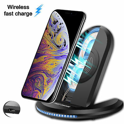 For Apple iPhone X XS Max/XR Qi Wireless Charger Charging Pad Holder Stand Dock