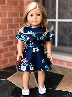 Romantic Moment - Dark Blue Dress - Clothes Fits 18 inch American Girl Doll