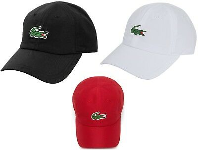 6bc9f65b43 NEW 2019 LACOSTE Crocodile Adjustable SPORT POLYESTER CAP Hat, PICK A  COLOR, $55