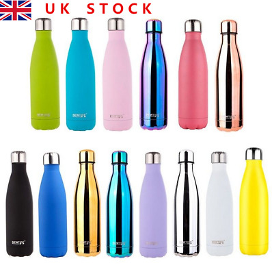 500ml Drink Bottle Water Bottle Stainless Double Wall Vacuum Cup Trendy