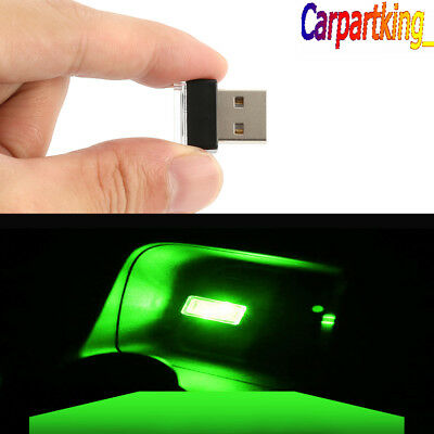 Mini USB Green LED Light Car Interior Light Neon Atmosphere Ambient Lamp 1PCS