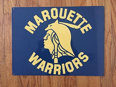 Marquette Warriors Basketball Golden Eagles MKE Wisconsin Poster Metal Sign