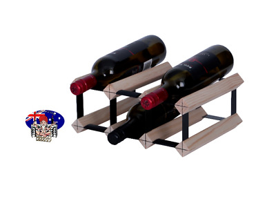 6 Bottle Timber Wine Rack - Free Delivery - DIY KIT - BUY 2 or more  SAVE 5%